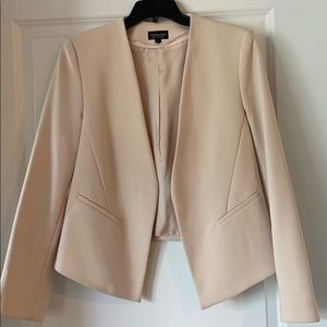 Topshop blush colored open blazer size 8